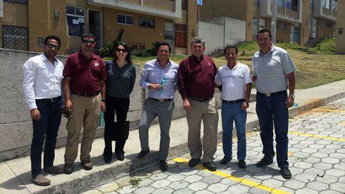 Gaurav Kakkar, Henry Quesada, and Robert Smith met with colleagues representing government and industry during their visit to Ecuador.